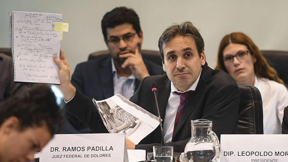 El juez Ramos Padilla expuso ante la comisión de Libertad de Expresión de la Cámara de Diputados.
