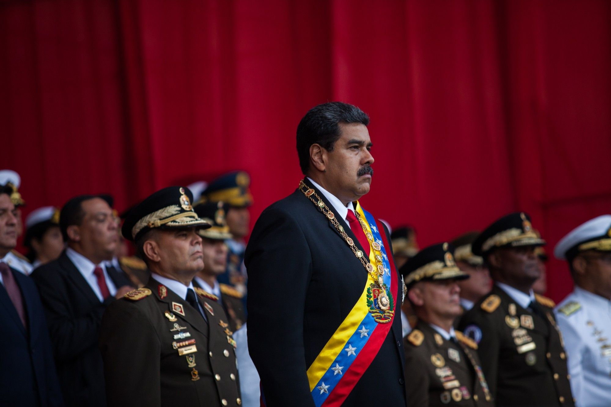President Maduro Attends The Military Academy ''Vow Of Loyalty' Event