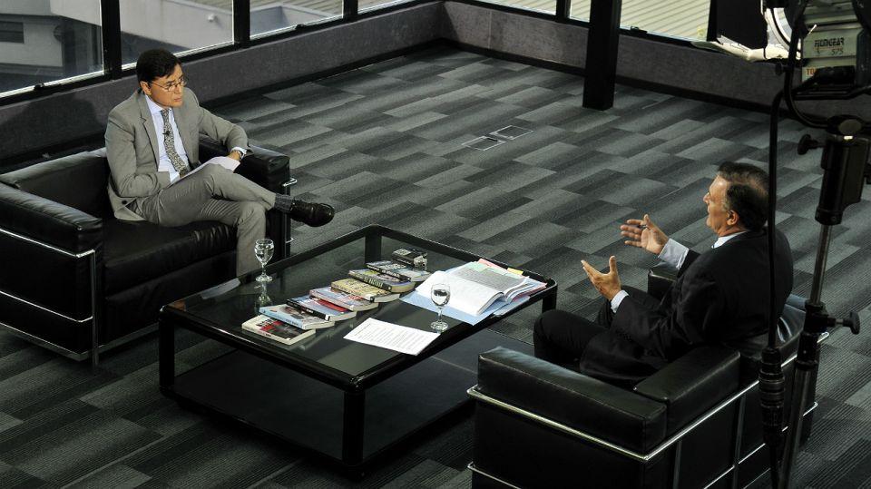Backstage de la entrevista de Jorge Fontevecchia a Daniel Santoro.