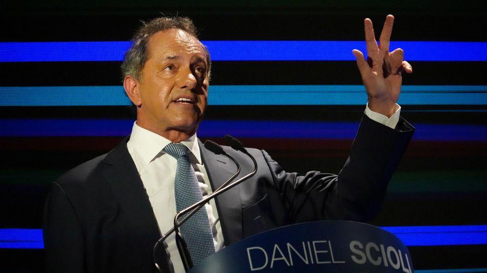 Daniel Scioli, en el lanzamiento de su precandidatura.