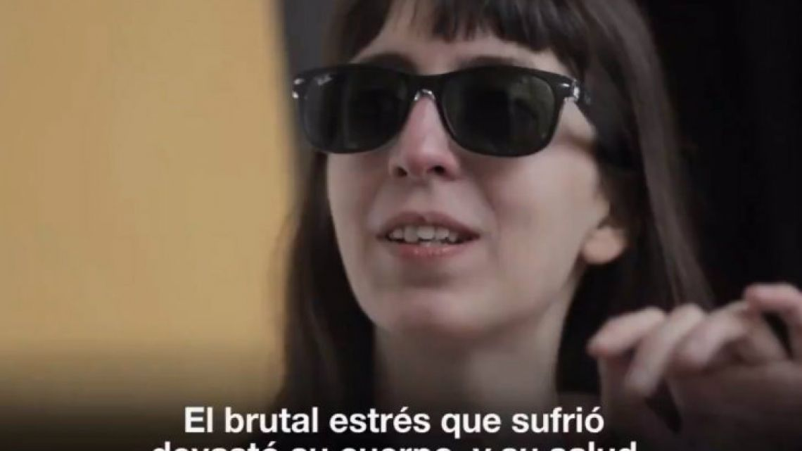 A frame from the video released by CFK.
