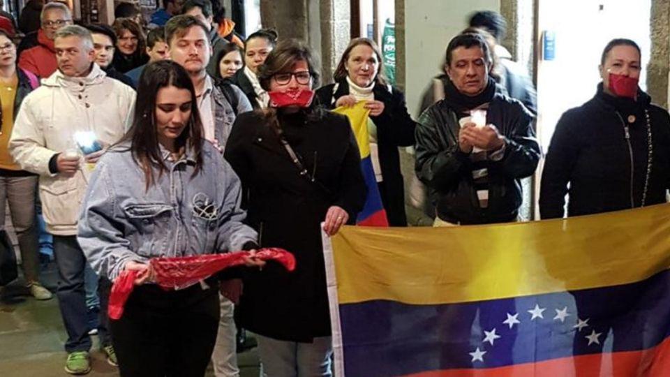 Venezolanos en Galicia, España.