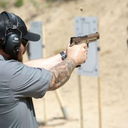 Pistola Sig P-320 de sistema modular.