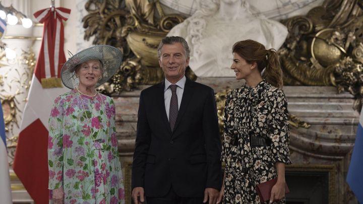 Juliana Awada y Mauricio Macri recibieron a Margarita II de Dinamarca en la Casa Rosada