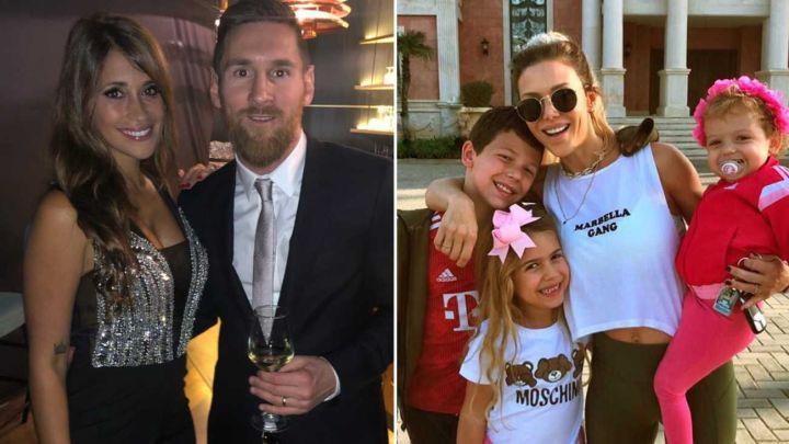 Antonela Roccuzzo eligió a los hijos de Evangelina Anderson para la campaña de su marca de ropa