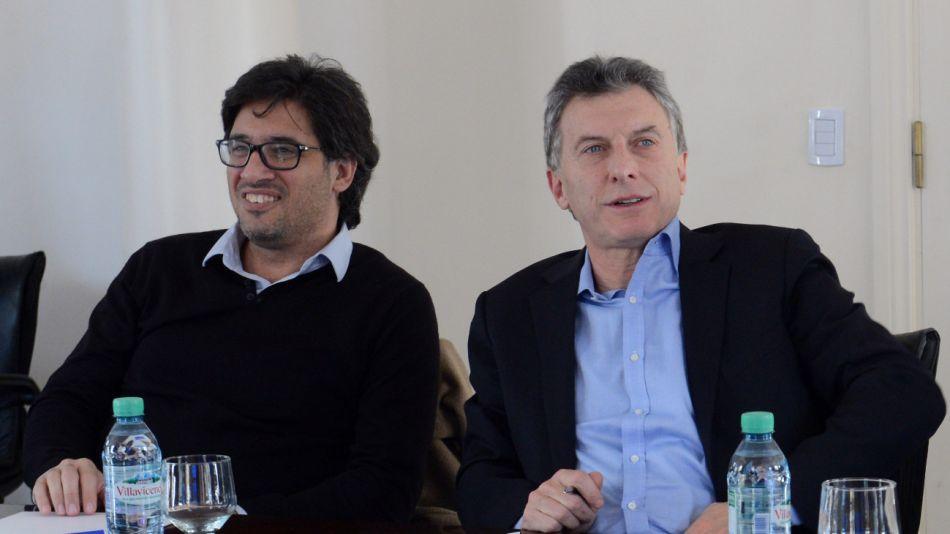 El presidente Mauricio Macri junto al ministro de Justicia Germán Garavano.