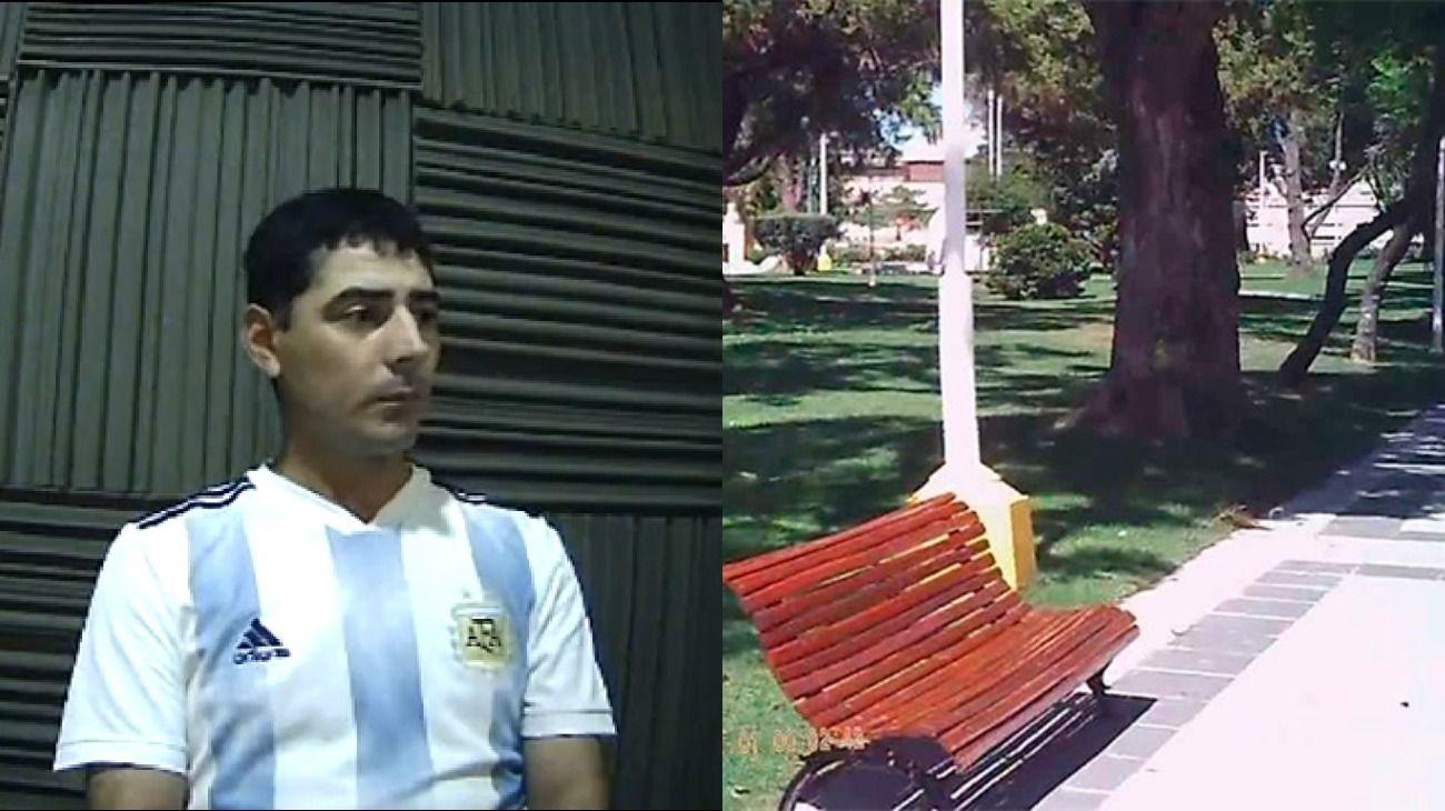 José Sánchez encontró el maletín con dinero en una plaza de Nogoyá.