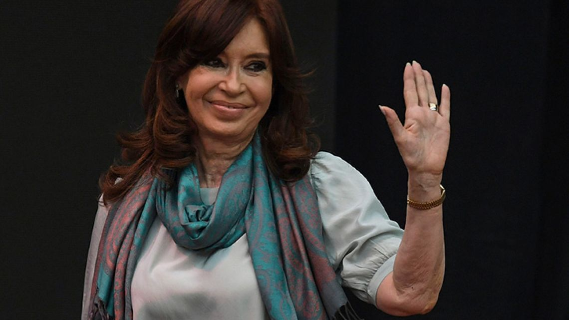 Former president and Senator for Buenos Aires province, Cristina Fernández de Kirchner.