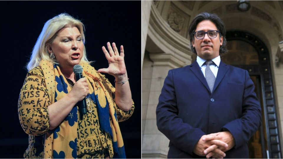 La diputada Elisa Carrió volvió a mostrar su rechazo contra el ministro de Justicia, Germán Garavano.