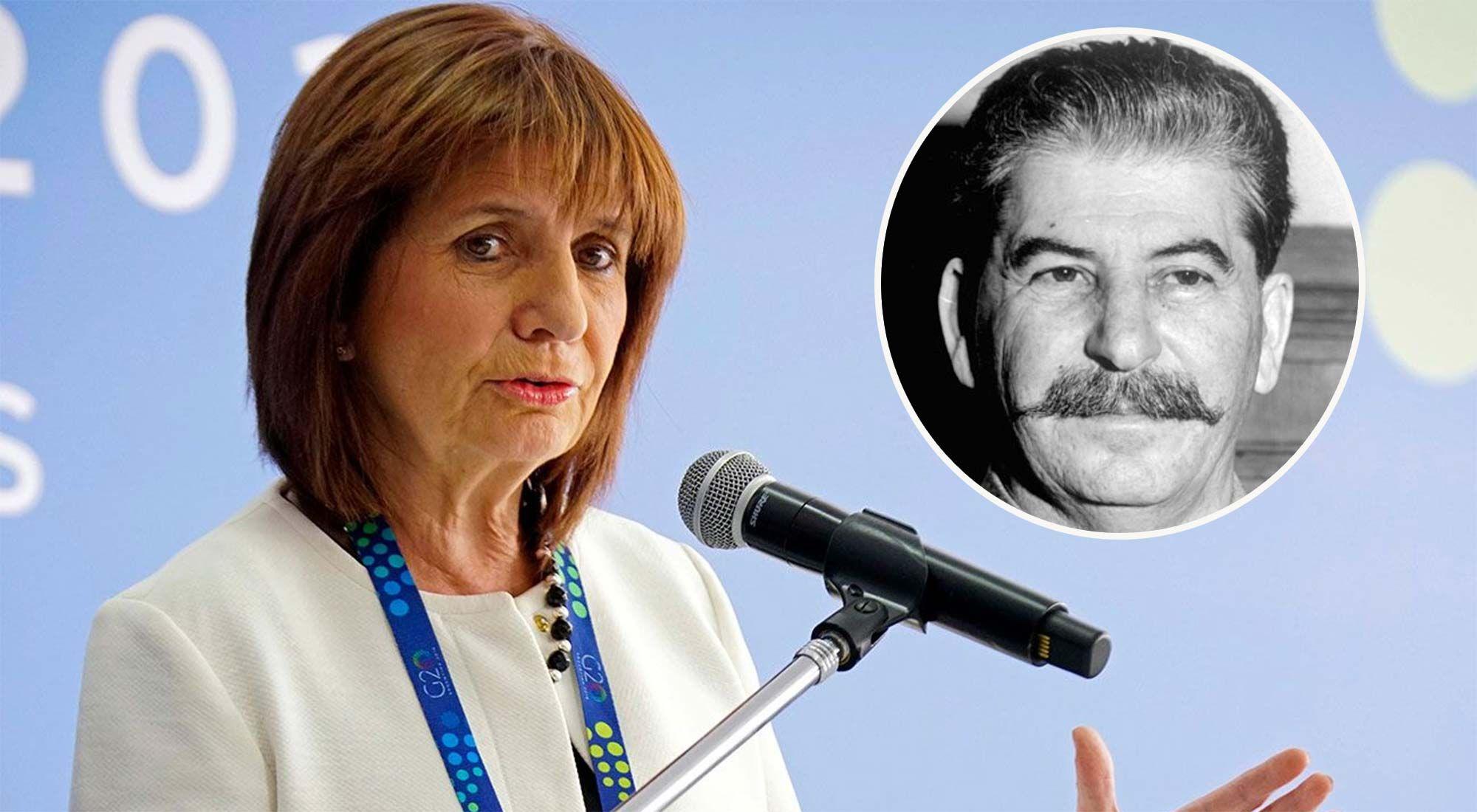 Patricia Bullrich y Joseph Stalin