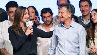 La gobernadora bonaerense María Eugenia Vidal y el presidente Mauricio Macri.