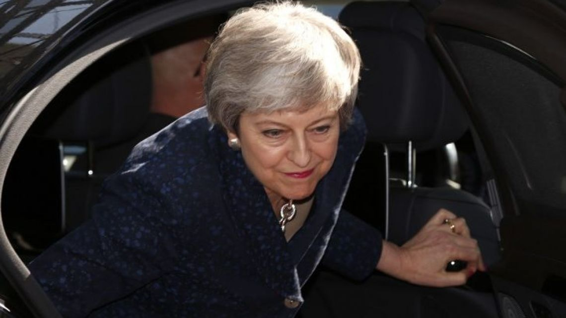 Britain's Prime Minister Theresa May arrives in Brussels on the first day of an EU summit focused on Brexit.