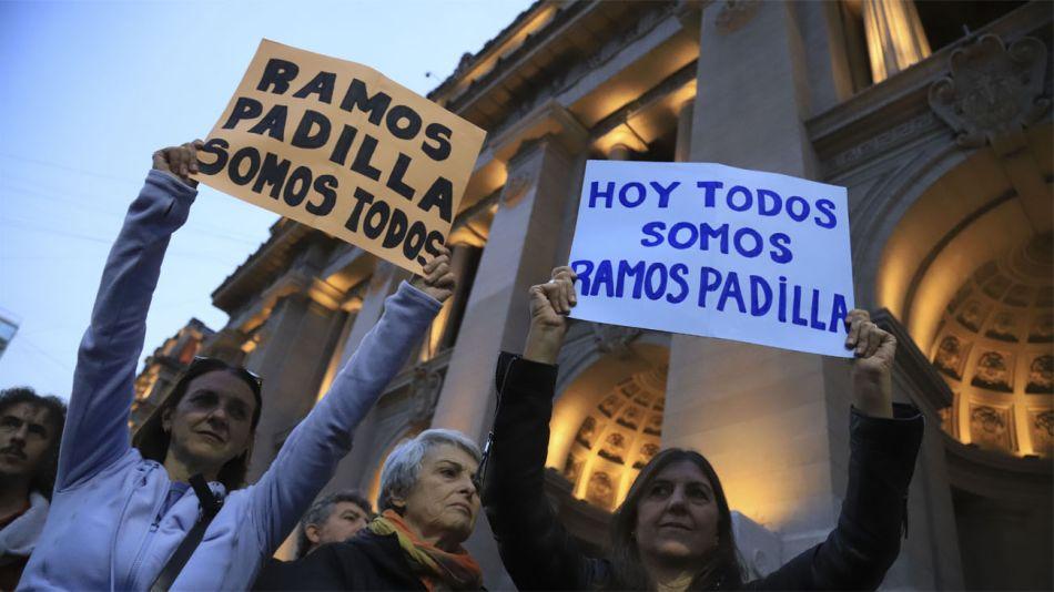 Marcha a favor del juez Alejo Ramos Padilla