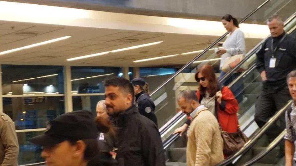 Cristina Fernández regresó de su viaje a Cuba.