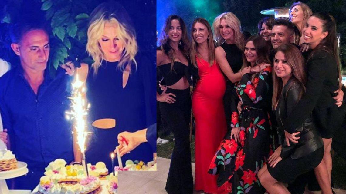 Yanina Latorre celebró sus 50 rodeada de amigos.