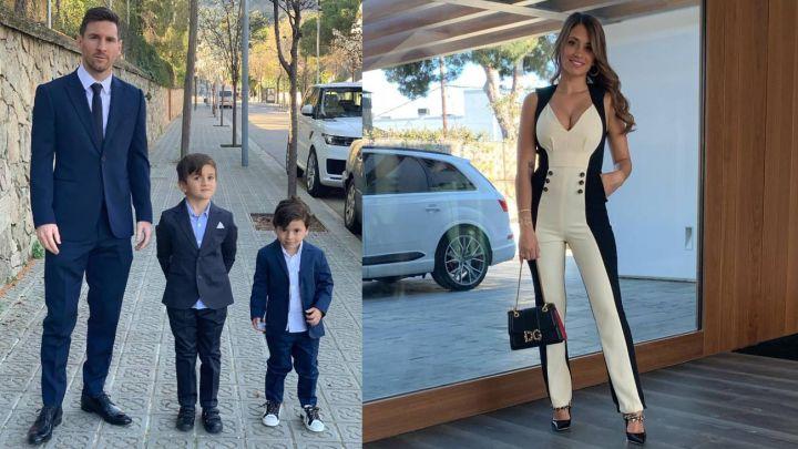 Leo Messi y Anto Roccuzzo asistieron al lujoso bautismo de los hijos de Cesc Fàbregas