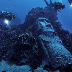Las aguas de la Isla de Pascua tienen una visibilidad de hasta 60 metros.