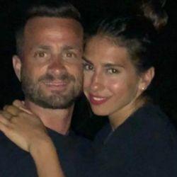 Cinthia Fernández y su novio