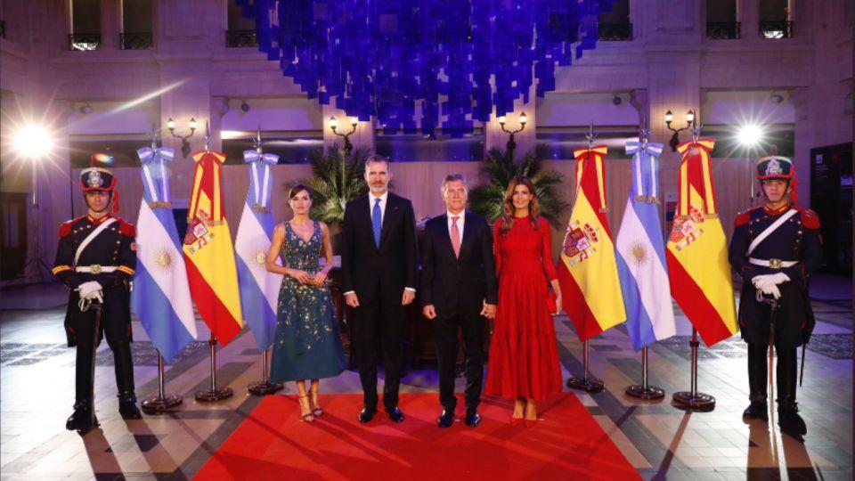 Los reyes de España en la Cena de Honor en el CCK.