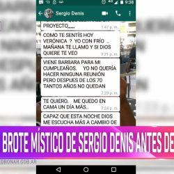 Los impactantes chats de Sergio Denis.