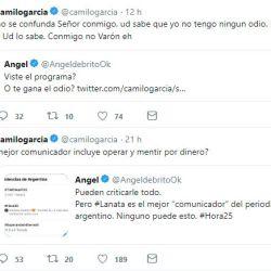Fuerte cruce entre Ángel de Brito y Camilo Garcia.