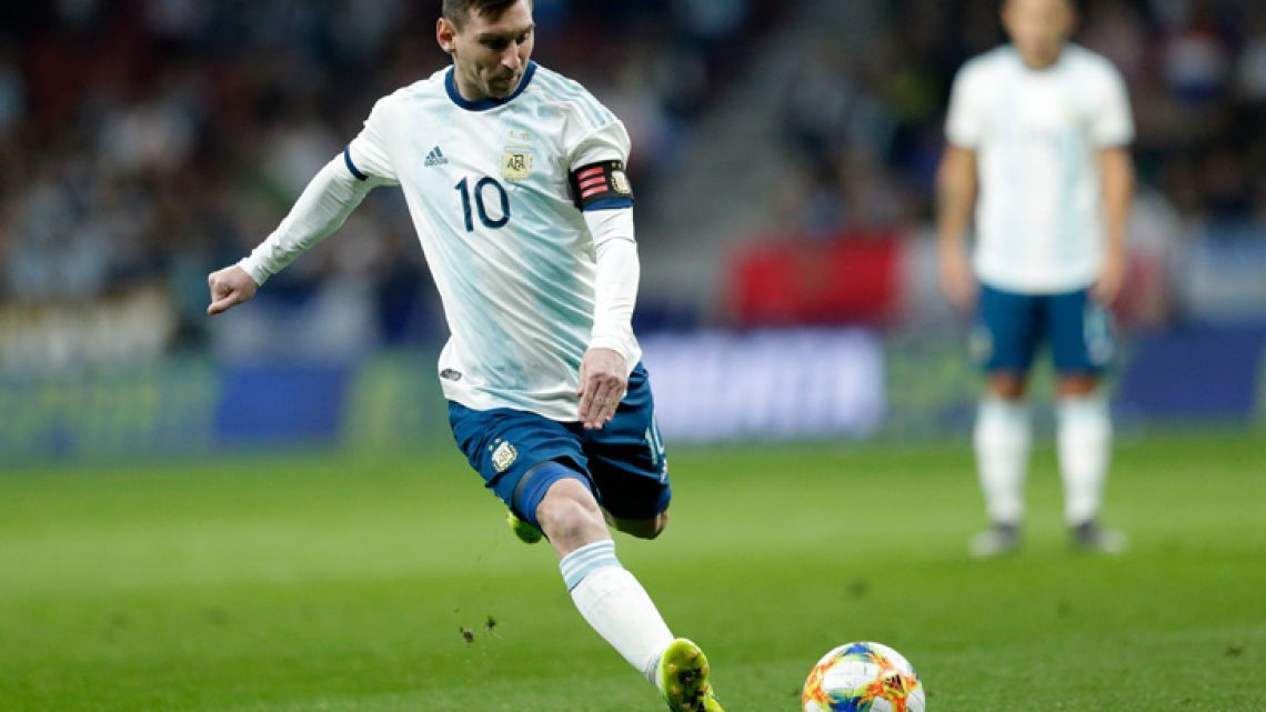 Lionel Messi, pictured during the match between Argentina and Venezuela at Wanda Metropolitano stadium in Madrid on Friday, March 22, 2019.