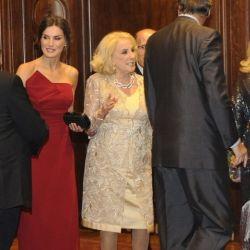 Mirtha conoció a la reina Letizia de España