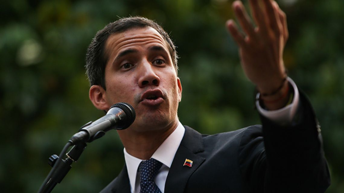 Juan Guaidó, opposition leader, head of the National Assembly and self-declared interim president of Venezuela.