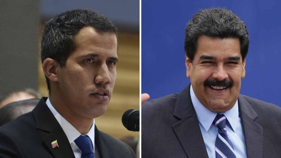 Juan Guaidó y Nicolás Maduro 03282019