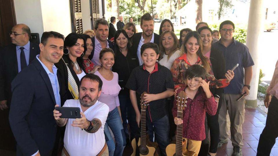 Marcelo Tinelli inició un raid político por toda la Argentina