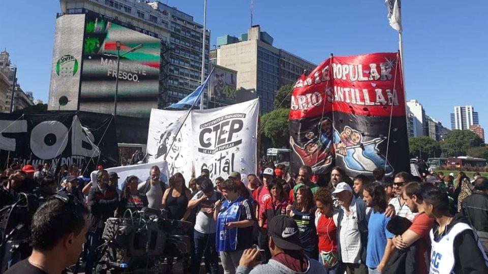 Manifestaciones CTEP Barrios de Pie FPDS 28032019