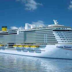 El Costa Smeralda se podrá abastecer de GNL en el puerto y también en alta mar.