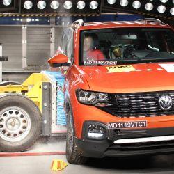 Test de impacto del Volkswagen T-Cross. Foto: Latin NCAP.