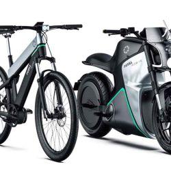 Fuell también está trabajando en una moto eléctrica que tendrá el motor instalado dentro de la rueda trasera.
