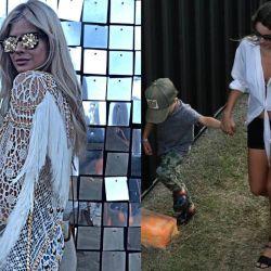 China Suárez y Pampita en el Lollapalooza