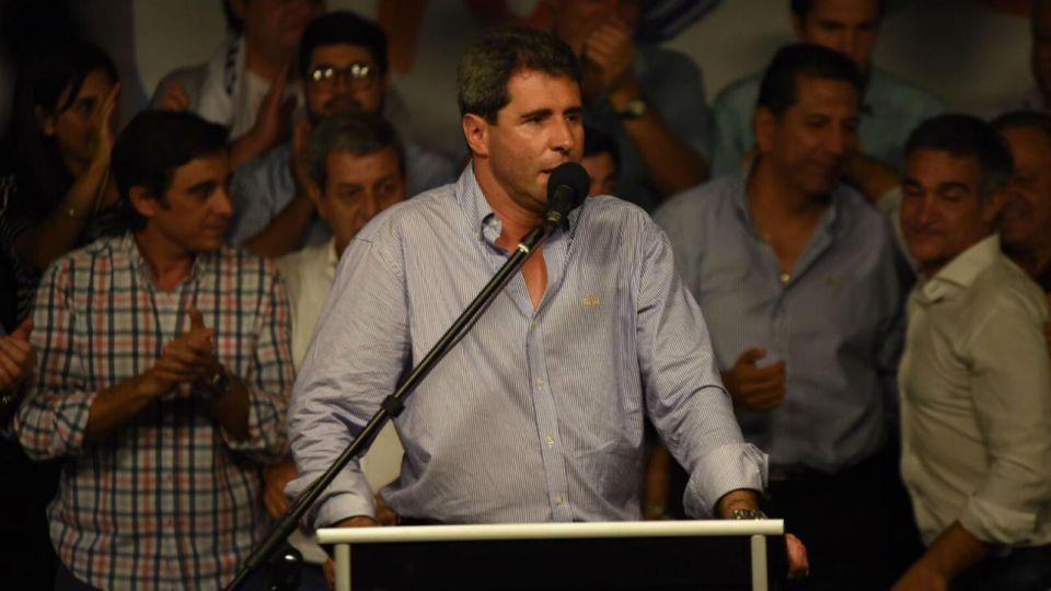 El gobernador de San Juan, Sergio Uñac, celebró el 55,7% de los votos obtenidos.