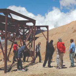 Parada en una de las estaciones de la mina La Mejicana.