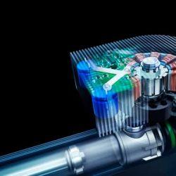 Vista en transparencia de un amortiguador-generador de última generación.