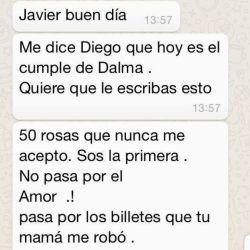 El chat entre Diego Maradona y Matías Morla
