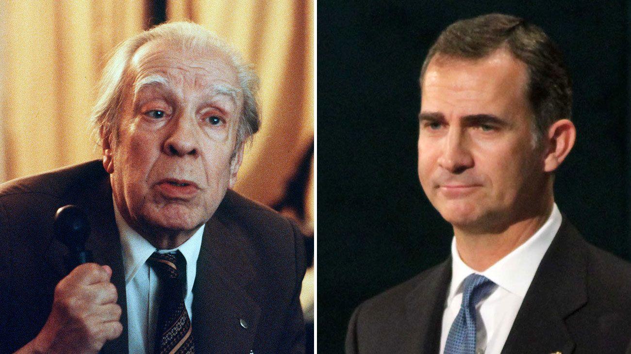 Borges , el rey de España Felipe