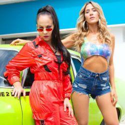 Miss Bolivia y Jimena Baron grabaron una canción juntas.