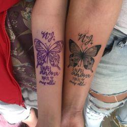Antonella Olivera se tatuó en honor a Natacha.