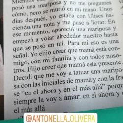 Antonella Olivera se tatuó en honor a su mamá.