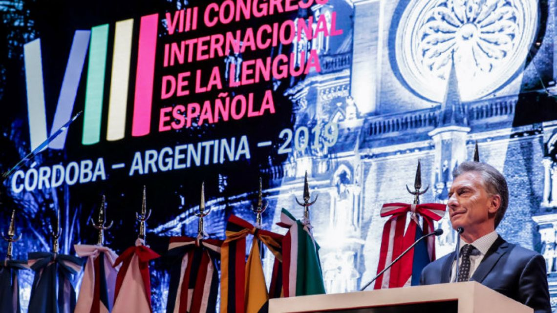Macri at the Spanish Language International Congress.