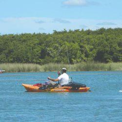 En Los Horcones está permitido pescar en kayak.