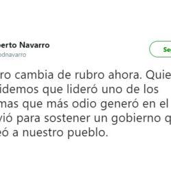 El mensaje de Navarro contra Del Moro