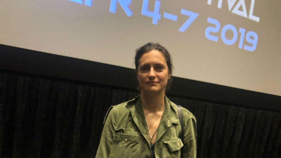 Agustina Macri durante la presentación de su película 'Soledad' en Miami.