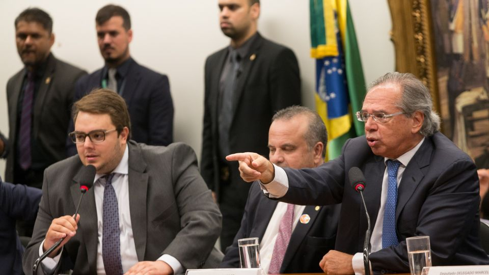 Economy Minister Paulo Guedes Speaks To Congress Amid Pension Reform Plan Battle