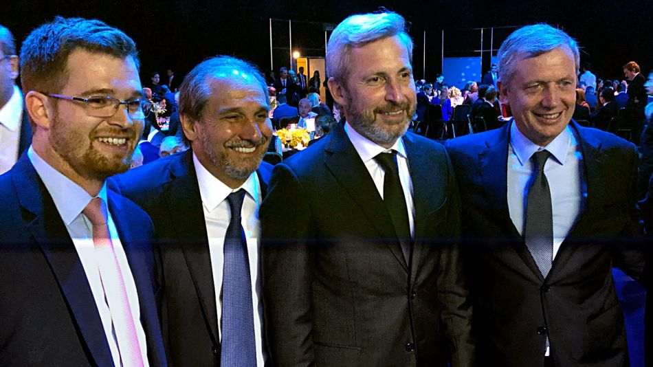 Frigerio, Caputo, Monzó y Massot en la Cena Cippec
