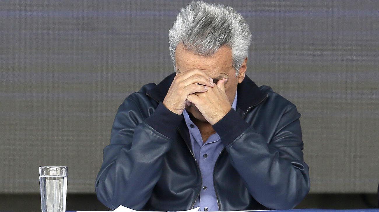 Tras la detención, Moreno inicia una gira por Washington